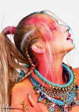 Issue #24 of HUF Magazine - Rainbow of Chaos Editorial - Jolita Jewellery feature: from top to bottom Rio, Damascus, Monaco and St.Tropez necklaces