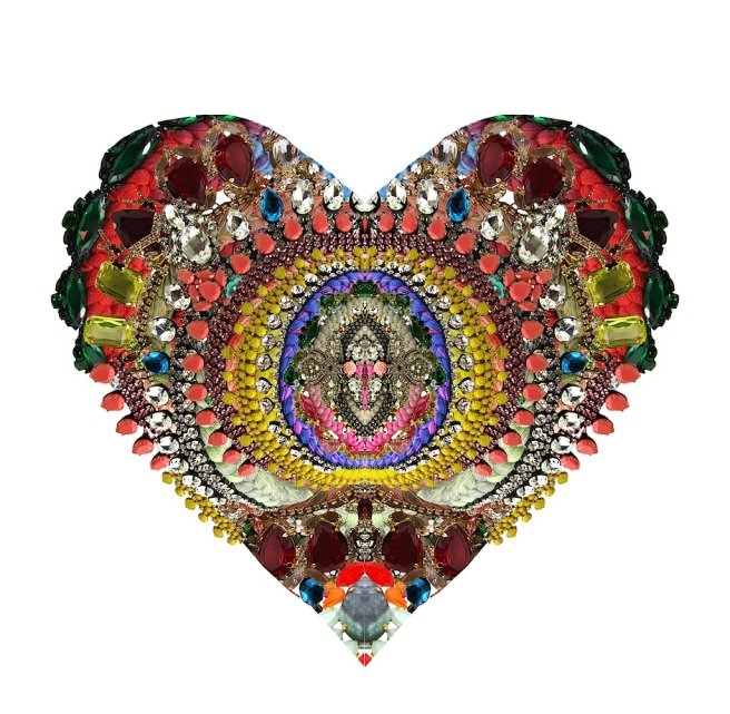 Happy Valentine's from Jolita Jewellery with a heart made out of our colourful statement jewels
