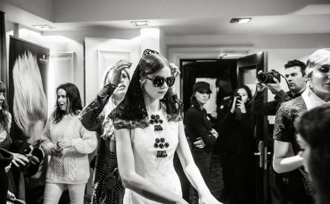 BTS from London Fashion Week Ethologie show with  Jolita Jewellery statement pieces