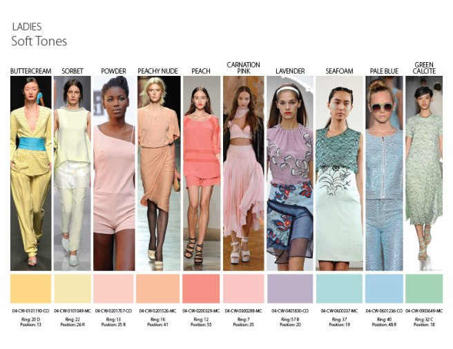 Soft tones - colour trends for Spring Summer 2014