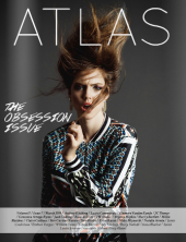 Atlas Magazine - The Obsession Issue Cover, March 2014 - Birds Of A Feather editorial, featuring St.Petersburg statement necklace by Jolita Jewellery