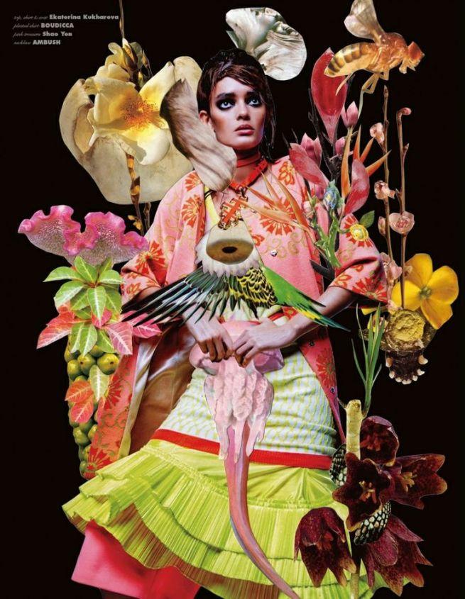 Ekaterina Kukhareva for Vision Magazine, March 2014, by Danil Golovkin.