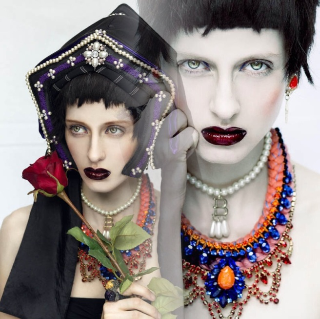 From editorial for All Hollow magazine - In Skull ring, Skull earrings, Madrid and Madeira statement necklaces, all by Jolita Jewellery