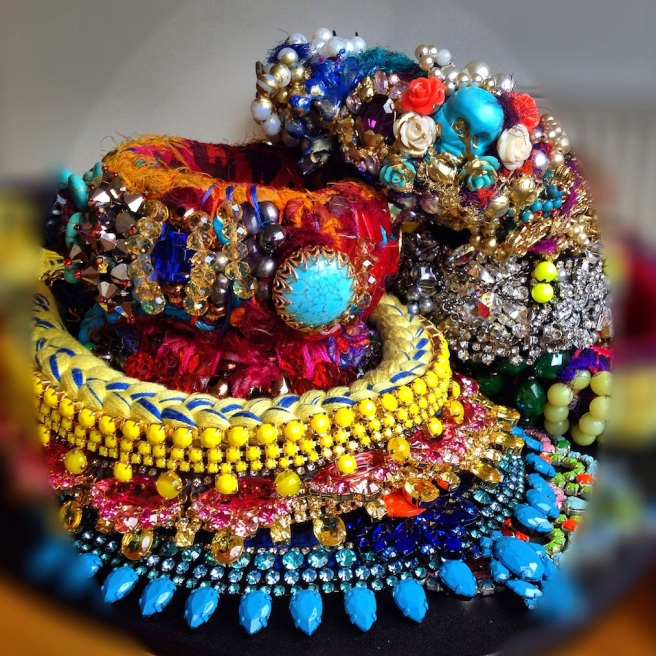 Colourful statement jewels hand-made by Jolita Jewellery
