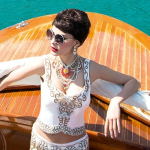 Asiana Summer Weddings 2014 issue - in Tangier necklace by Jolita Jewellery