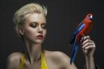BIRDS editorial, Glassbook magazine, June 2014 - crystal Chaos cuff by Jolita Jewellery, from Kaleidoscope collection