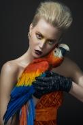 BIRDS editorial, Glassbook magazine, June 2014 - crystal Madrid earrings by Jolita Jewellery