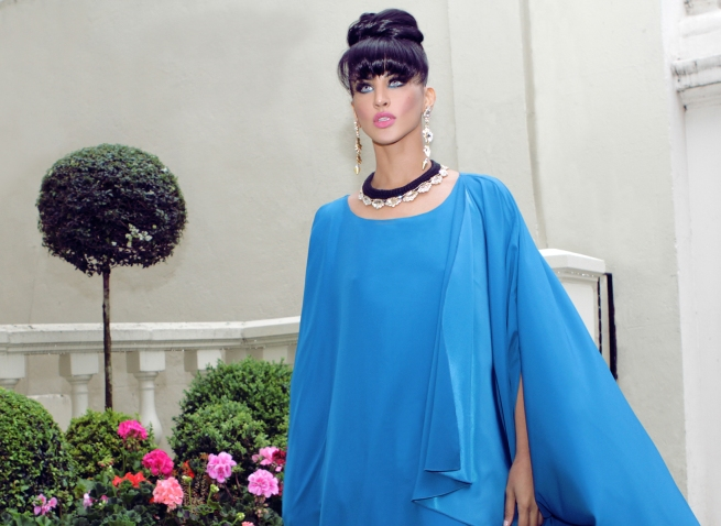 From luxury shoot with KatayoonLondon - in Jolita Jewellery's Paris necklace and Duchess earrings