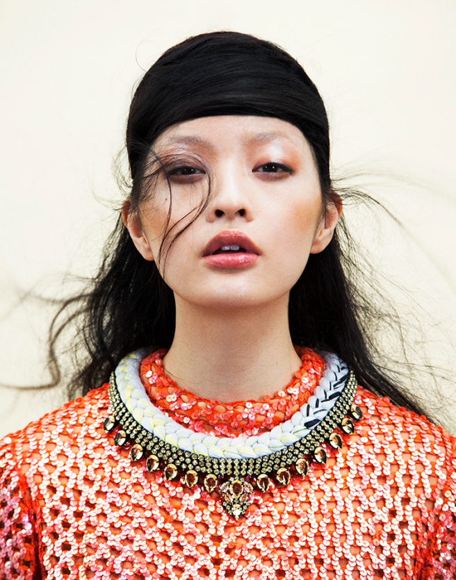 HIlda editorial, published in Indie Magazine, August 2014  - Jolita Jewellery braided Cannes necklace