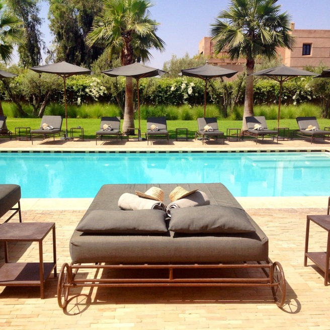 Hotel pool, Marrakech