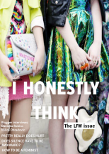 I Honestly Think magazine - London Fashion Week issue September 2014 Cover
