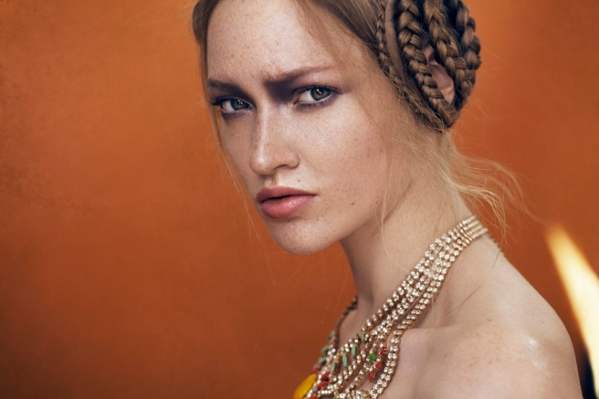 From beauty editorial - Tangier statement necklace by Jolita Jewellery