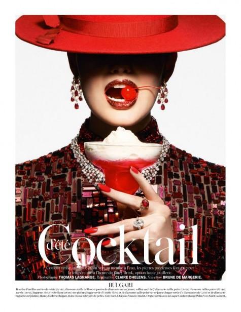 Thomas Lagrange D'été Cocktail Vogue Paris June/July 2014