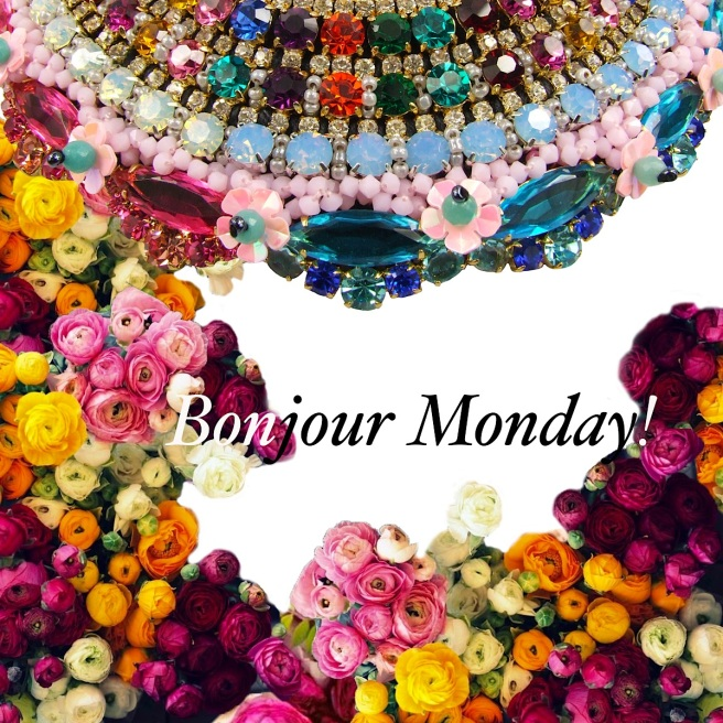 Happy Monday motivation - with colourful Jolita Jewellery crystals and flowers