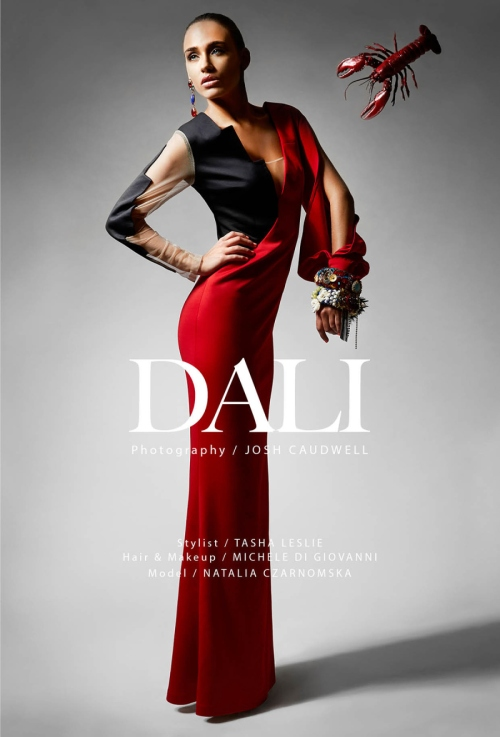 Institute magazine - Dali editorial in Jolita Jewellery statement pieces: colourful Countess statement earrings and one-of-a-kind bangles