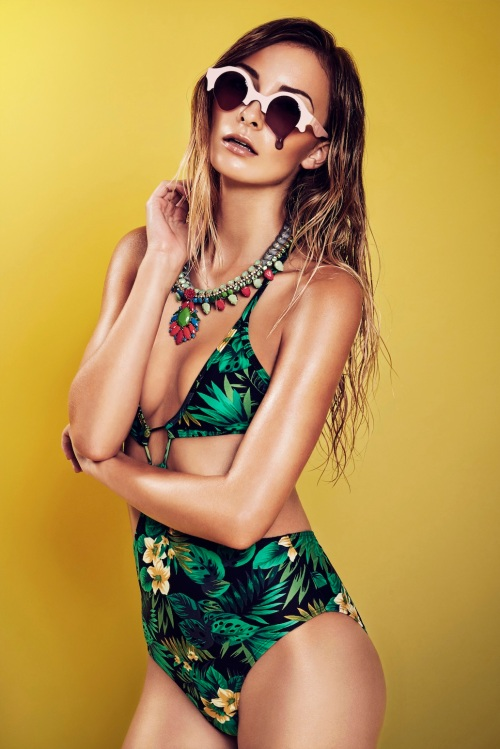 HOT editorial in braided Madrid Luxe statement necklace by Jolita Jewellery