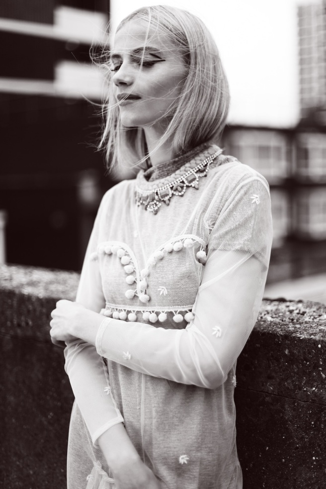 Bricks Magazine, November 2014 - in braided Salzburg necklace by Jolita Jewellery