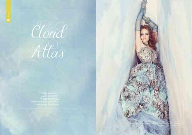 Hedonist magazine, Cloud Atlas editorial - crystal cuff by Jolita Jewellery