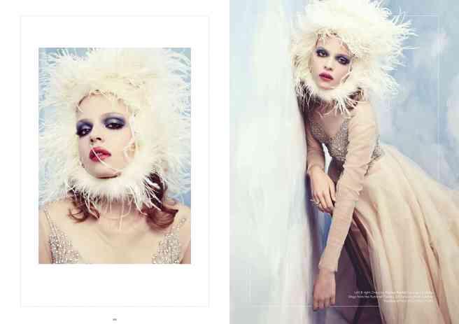 Hedonist magazine, Cloud Atlas editorial - crystal earrings by Jolita Jewellery
