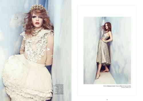 Hedonist magazine, Cloud Atlas editorial - crystal Duchess earrings by Jolita Jewellery