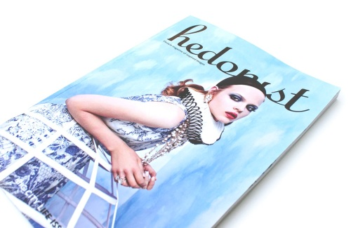Hedonist magazine cover with Cloud Atlas editorial, featuring  Ipanima necklace and Casablance earrings both by Jolita Jewellery