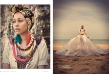 Eyo Brides editorial for Blanc Digital magazine in Jolita Jewellery statement pieces