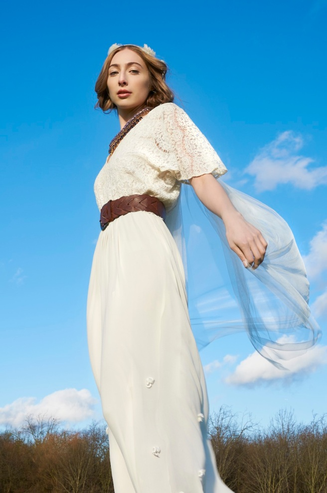 Bridal Boho Editorial for Want That Wedding: in Jolita Jewellery's Vancouver braided silk necklace