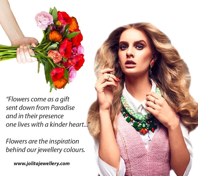 Flowers are the inspiration behind Jolita Jewellery's statement pieces