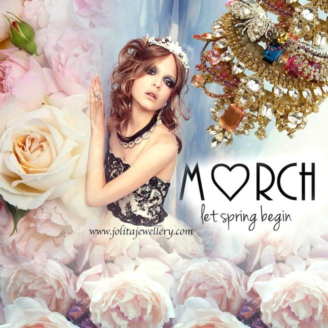 Hello March!  March according to Jolita Jewellery