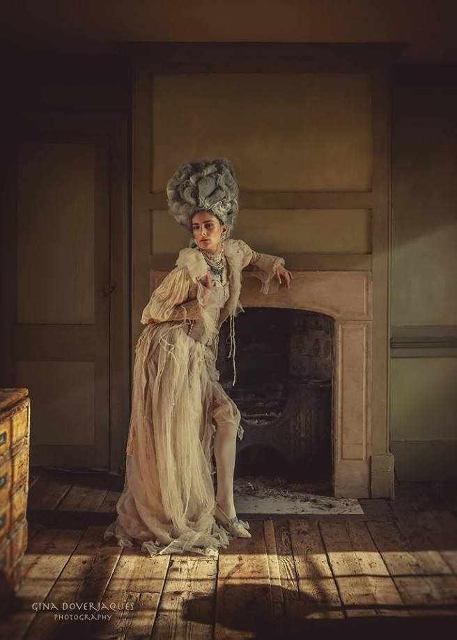 Ragged Rococo shoot - in Jolita Jewellery by Gina DoverJaques