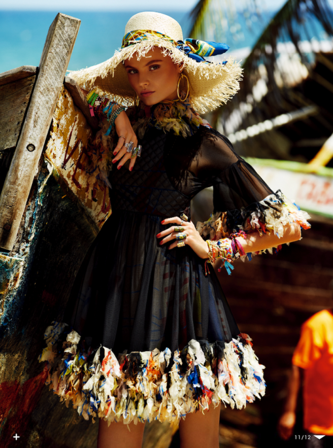 I'll be at the beach: Magdalena Frackowiak by Giampaolo Sgura for Vogue Japan May 2013