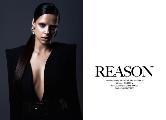 Institute Magazine, Reason Editorial, April 2015 - in  Jolita Jewellery's crystal Casablanca statement earrings