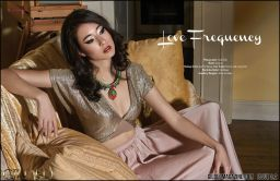 Love Frequency editorial published in Guilded magazine, featuring colourful statement pieces by Jolita Jewellery