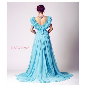 Katayoon SS15 dress, accessorised with Jolita Jewellery's pink Salzburg statement necklace, created with hand-dyed silk braid and hand-painted dipped in gold crystals