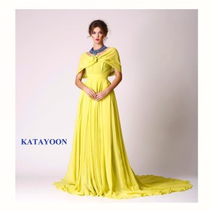 Katayoon SS15 dress, accessorised with Jolita Jewellery's blue Santorini statement necklace, created with hand-dyed silk braid and hand-painted crystals