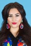 From Aywa London abaya look-book shoot - in colourful Sea Urchin statement earrings by Jolita Jewellery