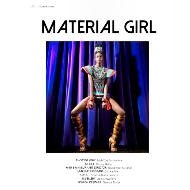 Material Girl editorial for Fashion Shift magazine, featuring colourful statement jewellery by Jolita Jewellery