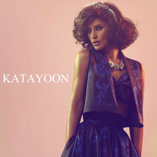 From the shoot with Katayoon London - in Jolita Jewellery's headband and Hawaii necklace, created with couture embroidery