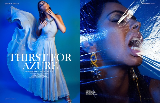 Thirst For Azure editorial for Ellements Magazine, June 2015 - in Jolita Jewellery's statement pieces