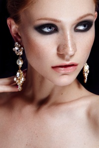 Versailles crystal statement earrings by Jolita Jewellery
