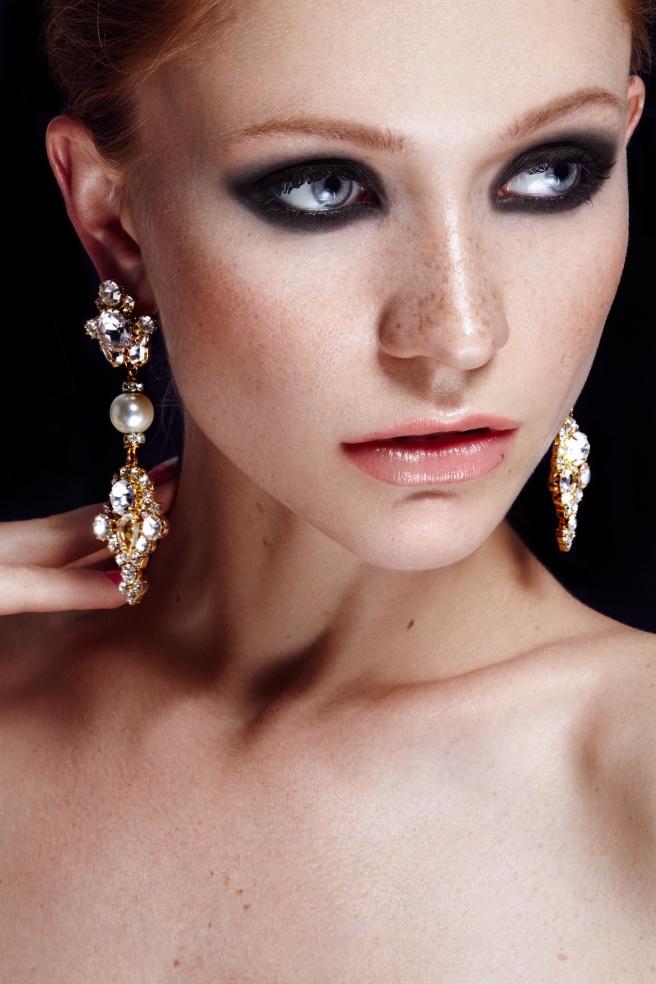 Versailles crystal statement earrings by Jolita Jewellery