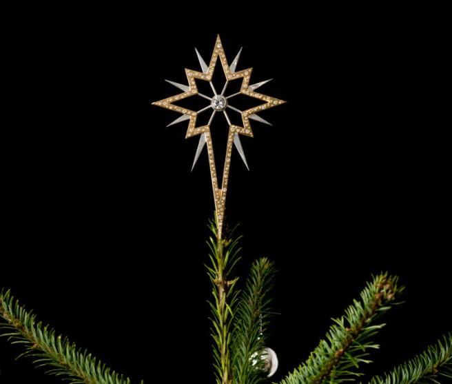 Diamond Christmas tree star