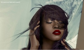 Blow editoria for Bold Africa magazine, featuring red and blue crystal statement earrings by Jolita Jewellery