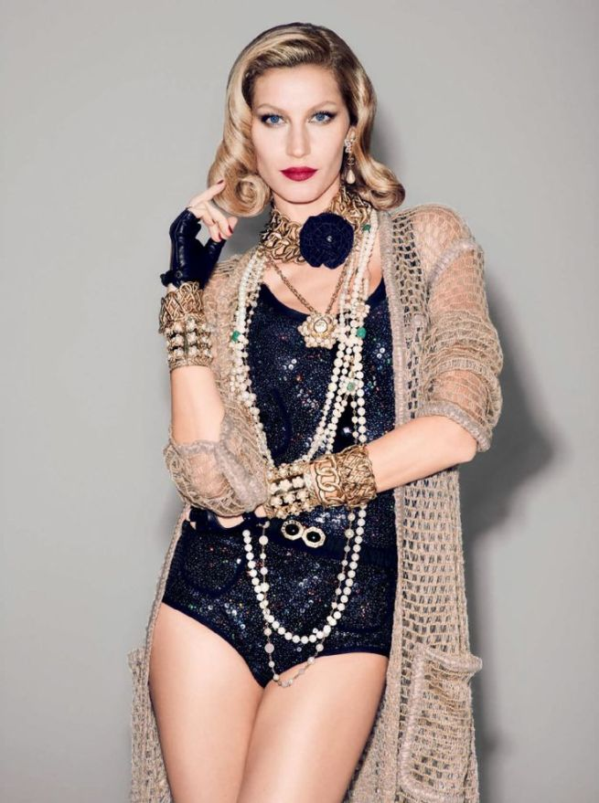 Gisele Bündchen photographed by Francois Nars for Vogue Brazil December 2015.