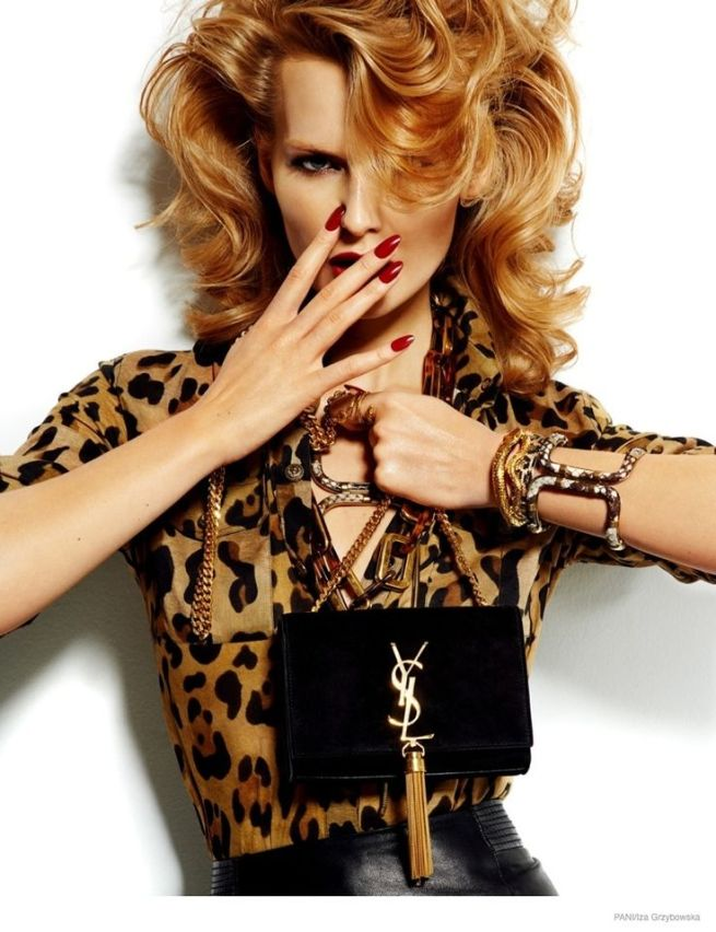 Wiola Kowal, photographed by Iza Grzybowska - Animal Print Accessories editorial