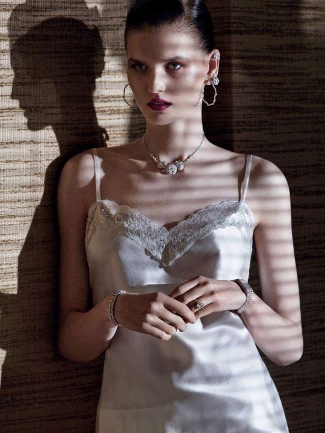Twilight Portrait - Katlin Aas by Daniel Riera for Vogue Russia August 2014