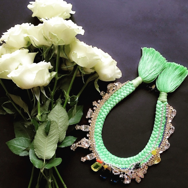 Beautiful flowers have a huge influence to the creative process of designing Jolita Jewellery's statement pieces