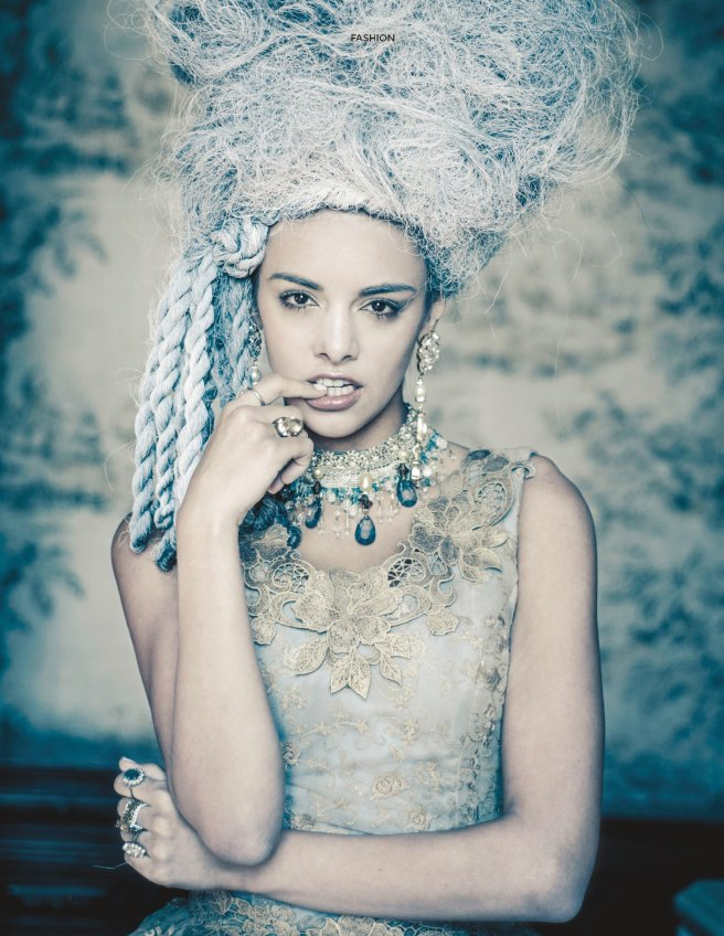 "From ""Let Them Eat Cake"" editorial, in Jolita Jewellery's crystal earrings"