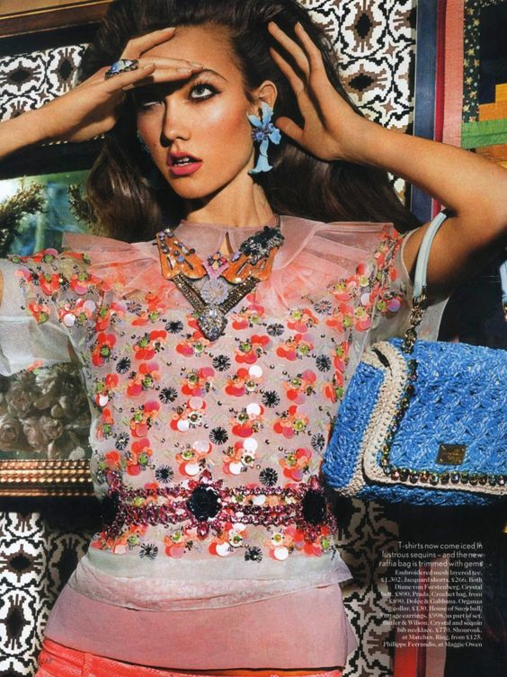Karlie Kloss by Mario Testino in Lady Luxe for Vogue UK March 2012