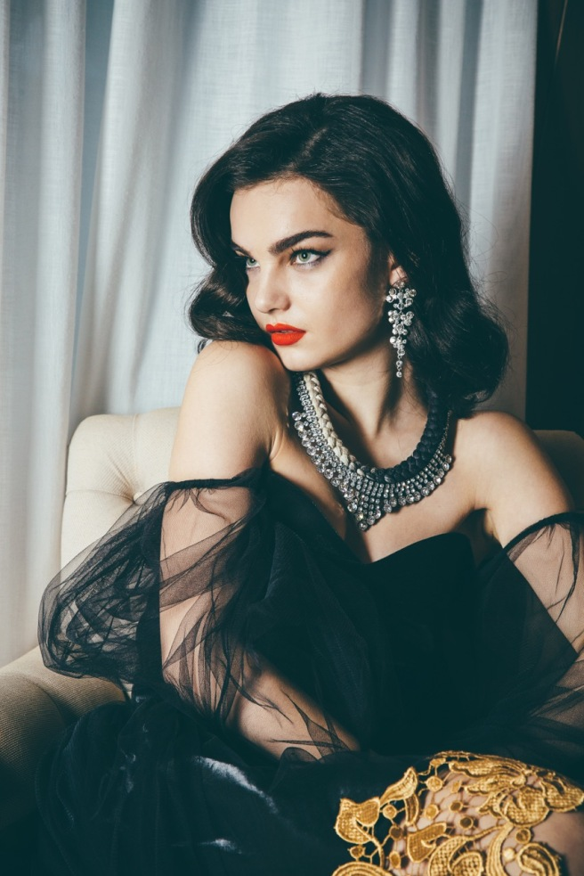 Hollywood Hills editorial for Arcadia Online Magazine, featuring braided Monaco statement necklace by Jolita Jewellery